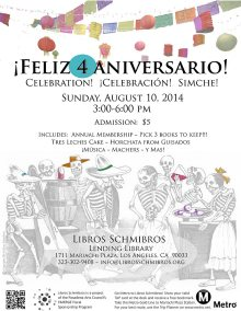 4th Aniversario flyer