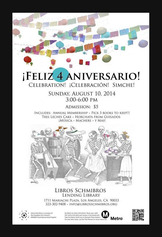 Libros Schmibros 4th Aniversario poster