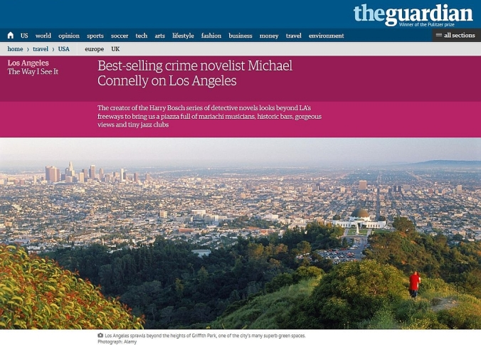 Best-selling crime novelist Michael Connelly on Los Angeles - The Guardian 10-27-2014, photograph by Alamy