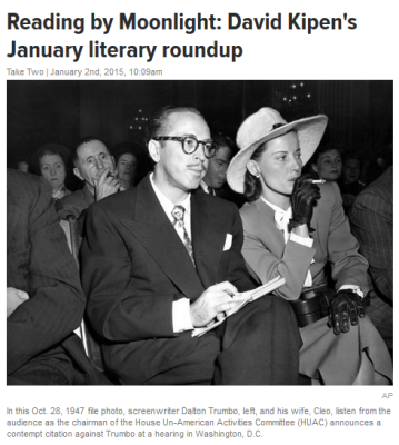 Dalton Trumbo and wife Cleo at his 1947 HUAC hearing