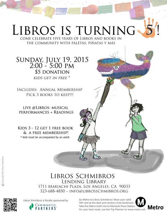 Libros 5th Anniversary flyer