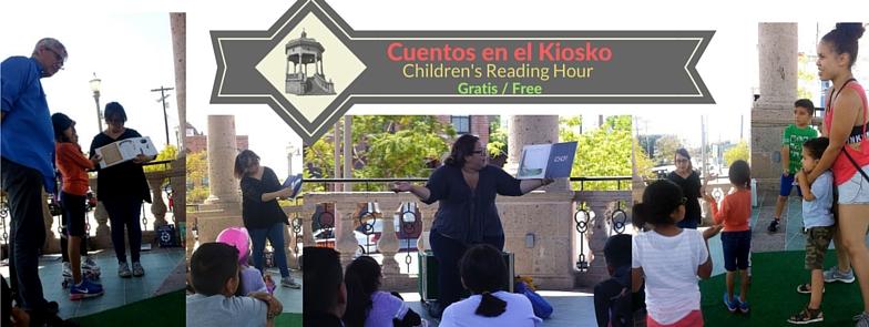 """Cuentos en el Kiosko / Children""""s Reading Hour - June 26, 2016"""