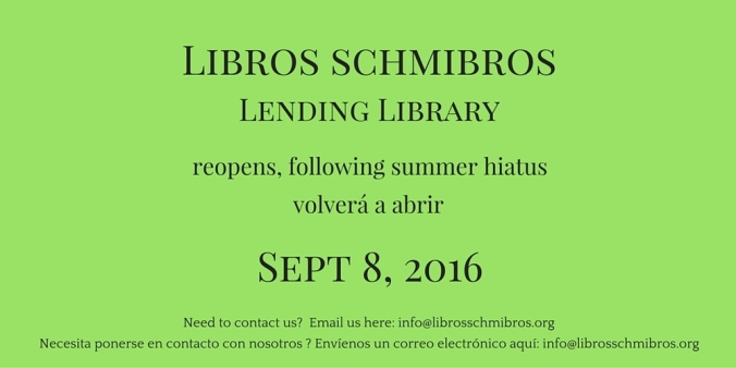 Libros reopens on 9-8-2016